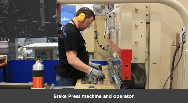 Brake Press machine and operator