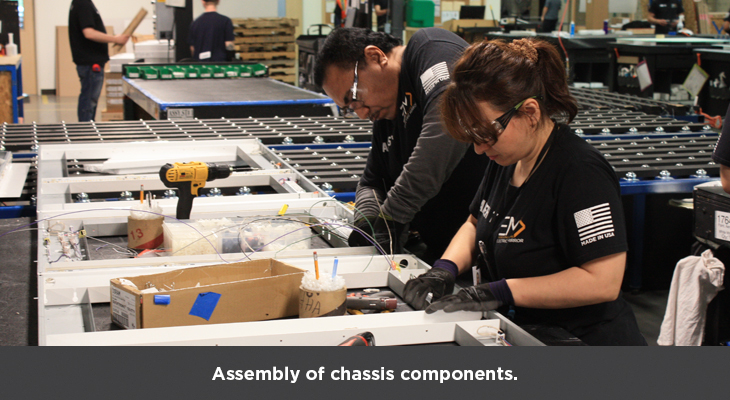 Assembliy of chassis components