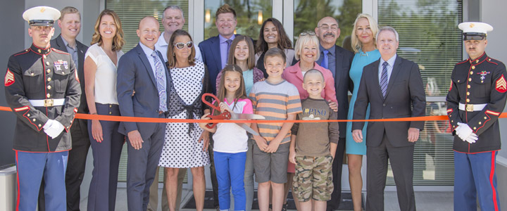 Ribbon cutting ceremony at Grand Opening May 13, 2016