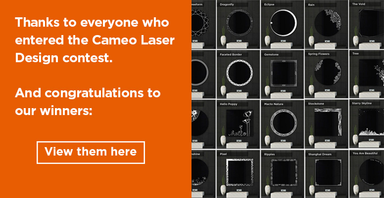 Announcing the WINNERS of the Cameo Design Contest - Laser-created Lighted Mirror Design