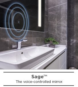 Sage-voice controlled mirror