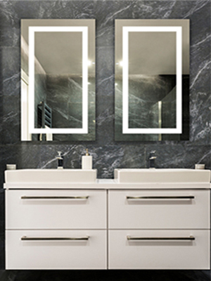 Lighted Mirrored Cabinets by Electric Mirror