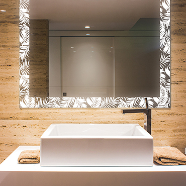 Beautiful LED lighted mirrors with creative laser designs