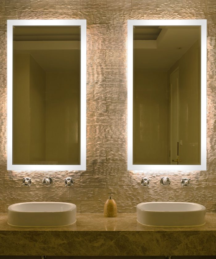 Facet LED Lighted Mirror