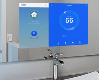 Savvy Smart Mirror with home environment app