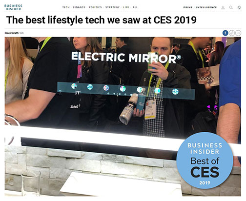 Business Insider's article about Electric Mirror's Savvy Home smart mirror at CES