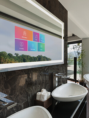 Savvy Smart Mirror for Hospitality by Electric Mirror