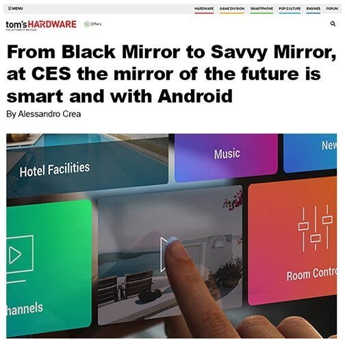 International excitement about Electric Mirror's Savvy Smart Mirror at CES