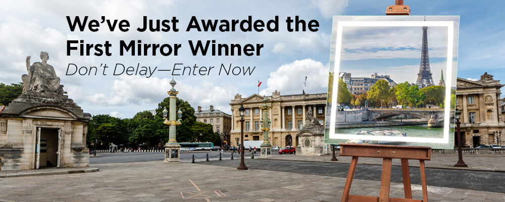 Electric Mirror's first winner in the Paris sweepstakes
